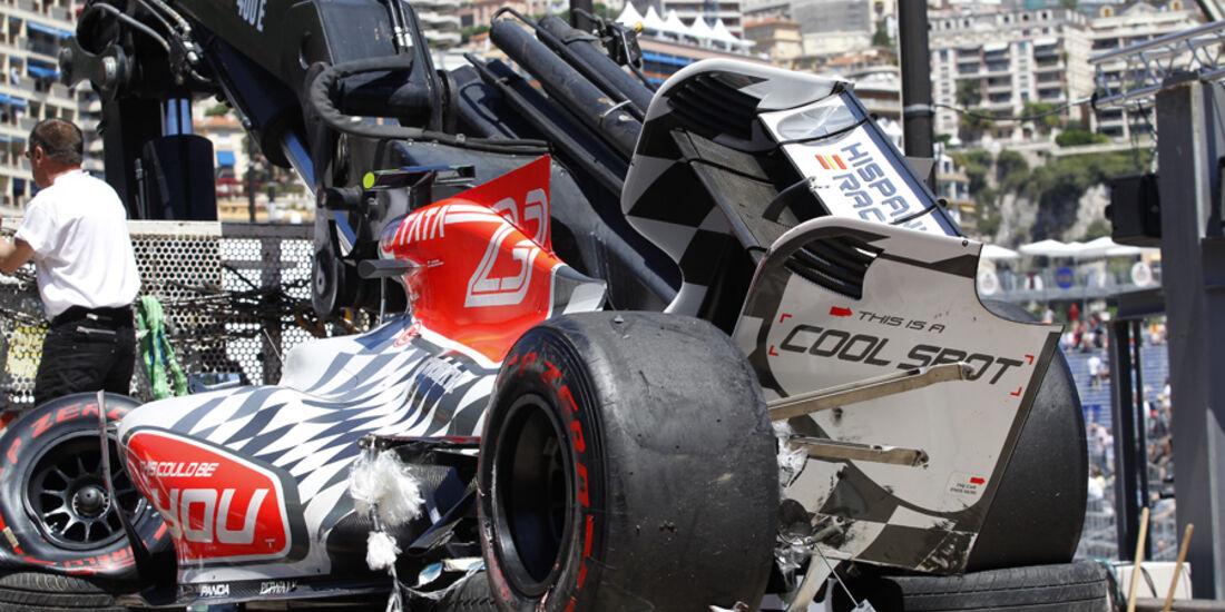 Tonio Liuzzi GP Monaco Crashs 2011