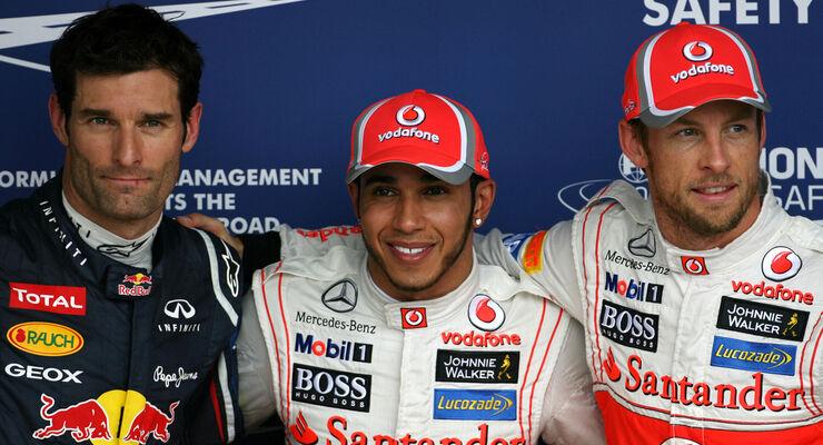 Top 3 - Formel 1 - GP Brasilien - Sao Paulo - 24. November 2012