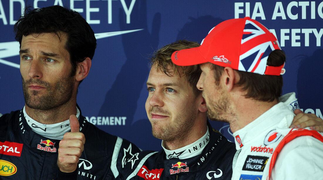Top 3 - Formel 1 - GP Japan - Suzuka - 6. Oktober 2012