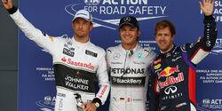Top 3 - Qualifying - GP England  - 2014