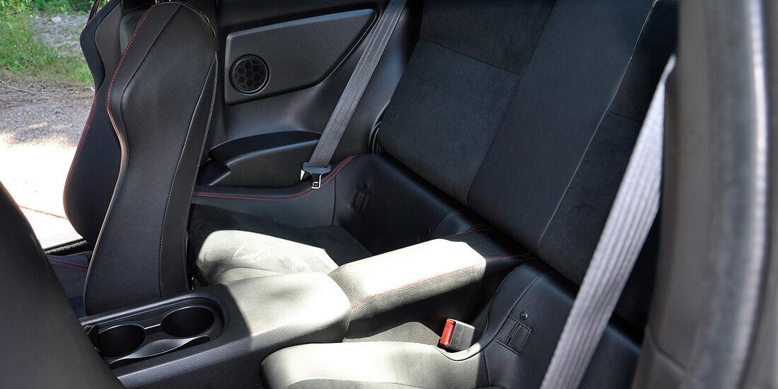 Toyota GT 86, Fond, Rückbank
