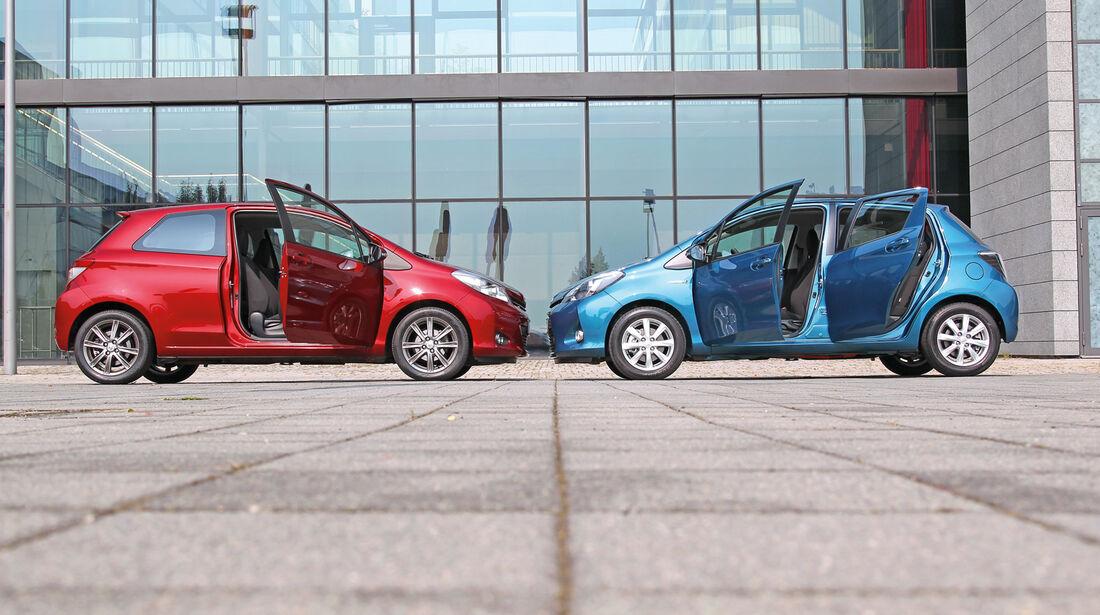 Toyota Yaris, Seitenansicht, Seitentür
