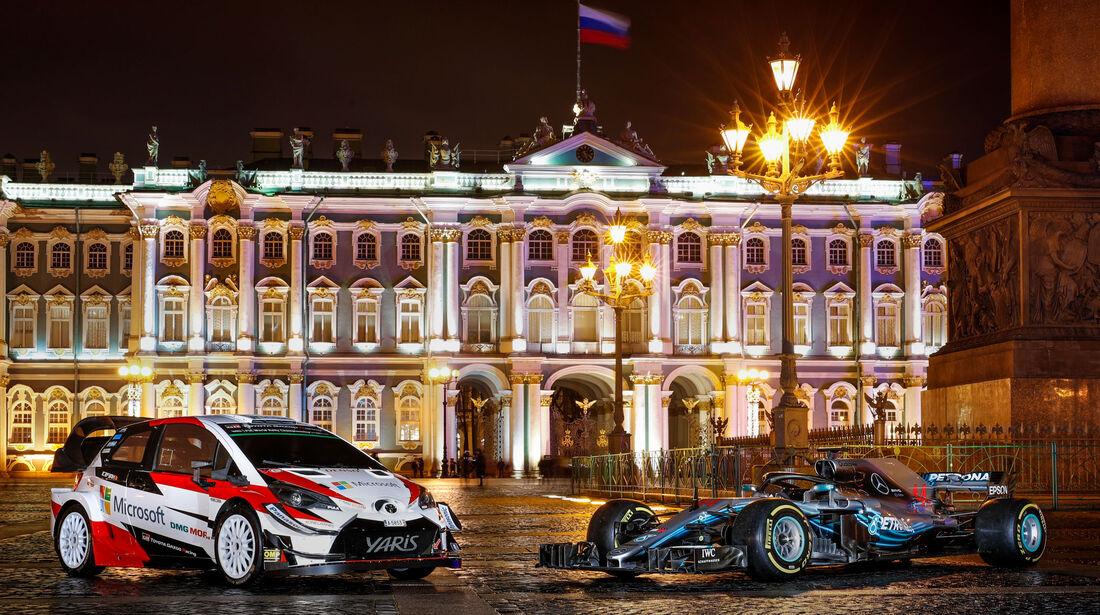 Toyota Yaris WRC - Mercedes W09 - FIA - Preisverleihung - St. Petersburg