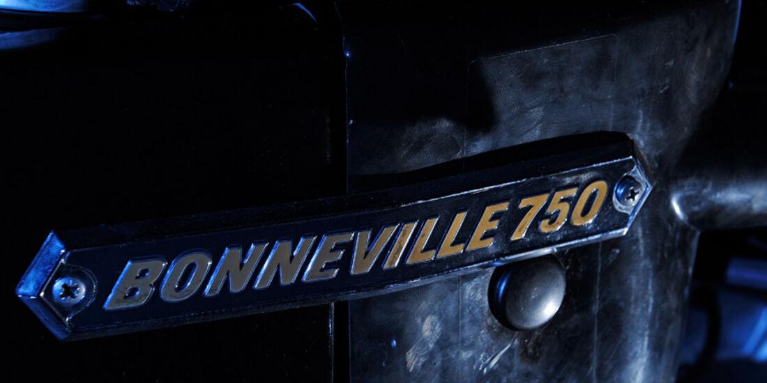 Triumph Bonneville 750, Bonneville, Emblem, Schriftzug