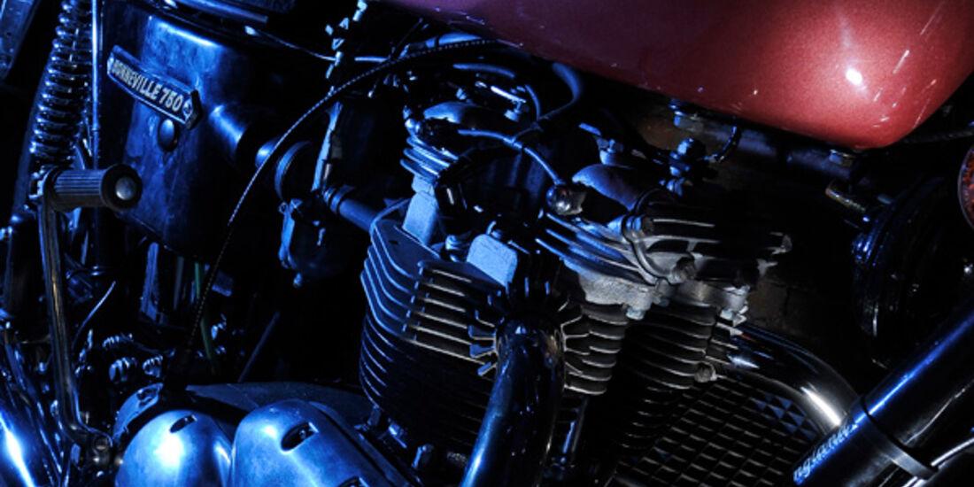 Triumph Bonneville 750, Detail, Tank