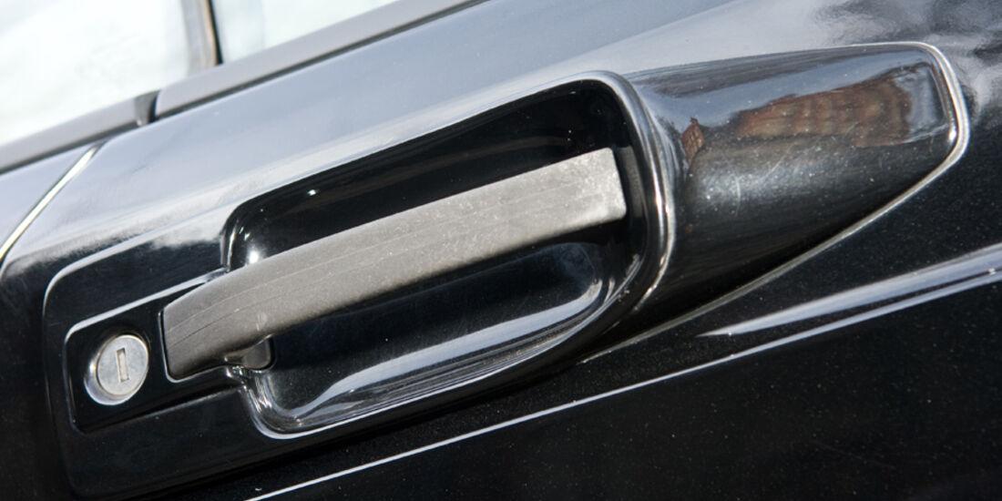 Türgriffschale eines Mercedes-Benz 500 SEC-AMG, Baujahr 1982