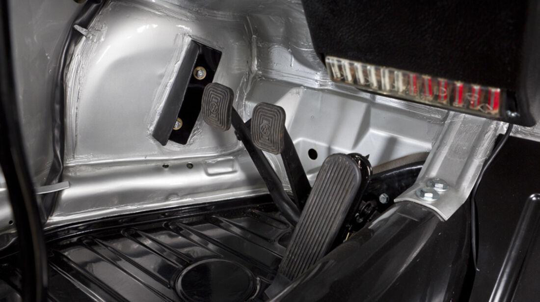 VW 1303 Rallye, Detail, Pedale