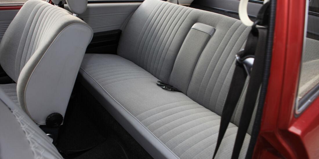 VW 411 LE, Rücksitze