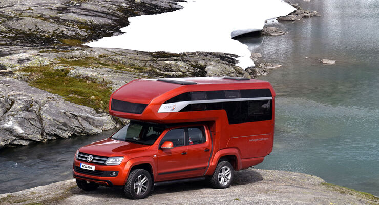 vw amarok wohnkabine kora glamping mit dem pickup auto. Black Bedroom Furniture Sets. Home Design Ideas