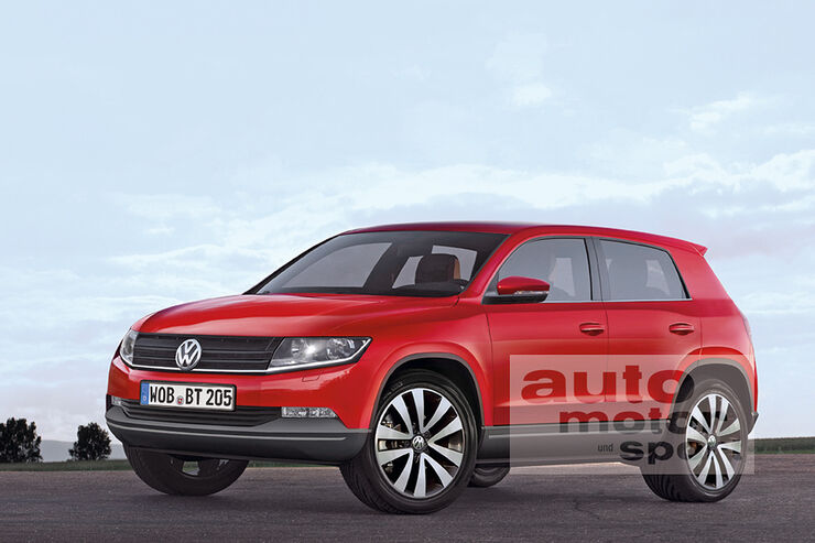 VW Baby-Tiguan, Polo-SUV, Retusche
