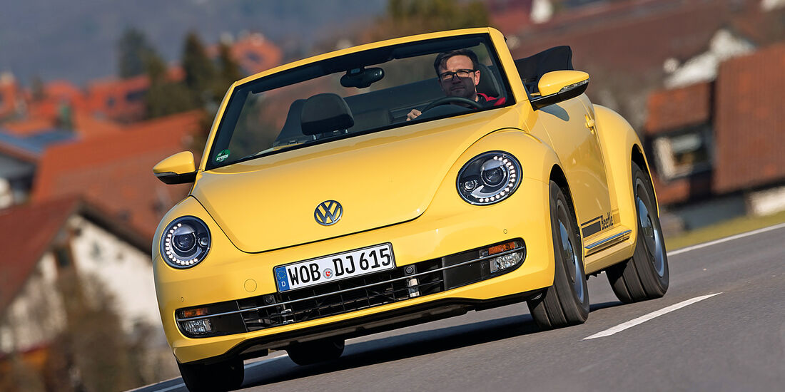 VW Beetle Cabrio 1.4 TSI, Frontansicht