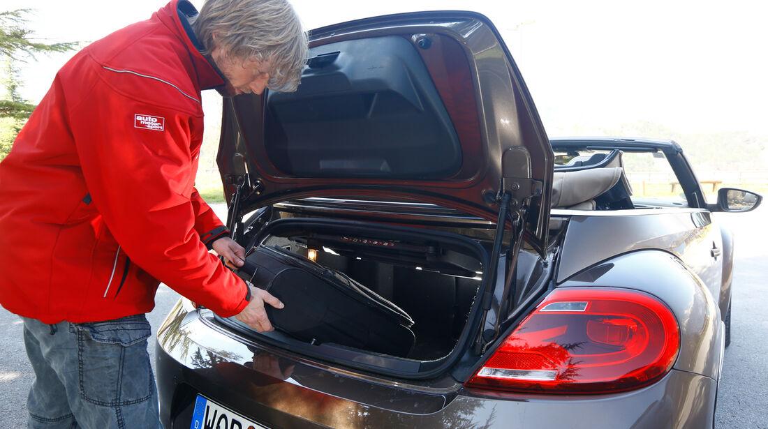 VW Beetle Cabrio 2.0 TDI, Kofferraum