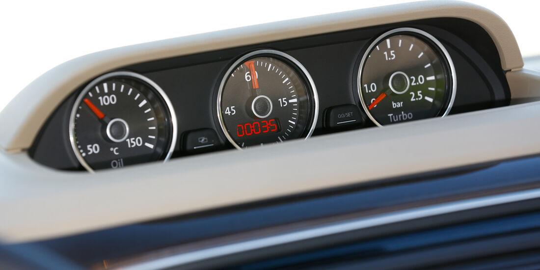 VW Beetle Cabrio 2.0 TDI, Rundinstrumente