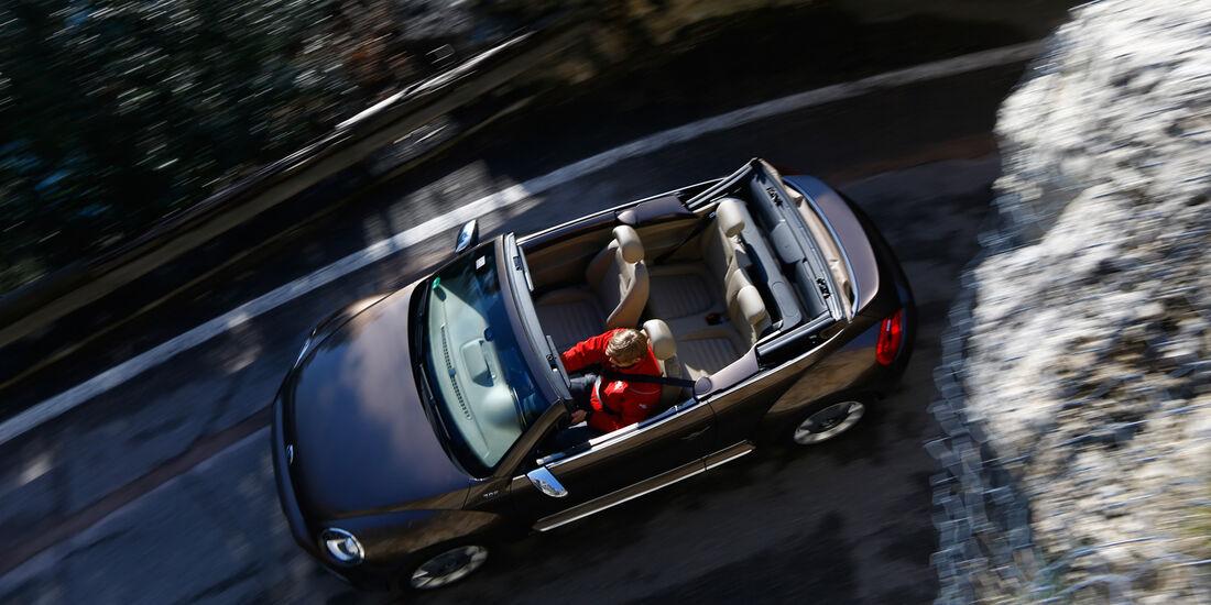 VW Beetle Cabrio 2.0 TDI, von oben