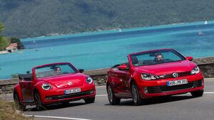 VW Beetle Cabrio, VW Golf Cabrio, Frontansicht