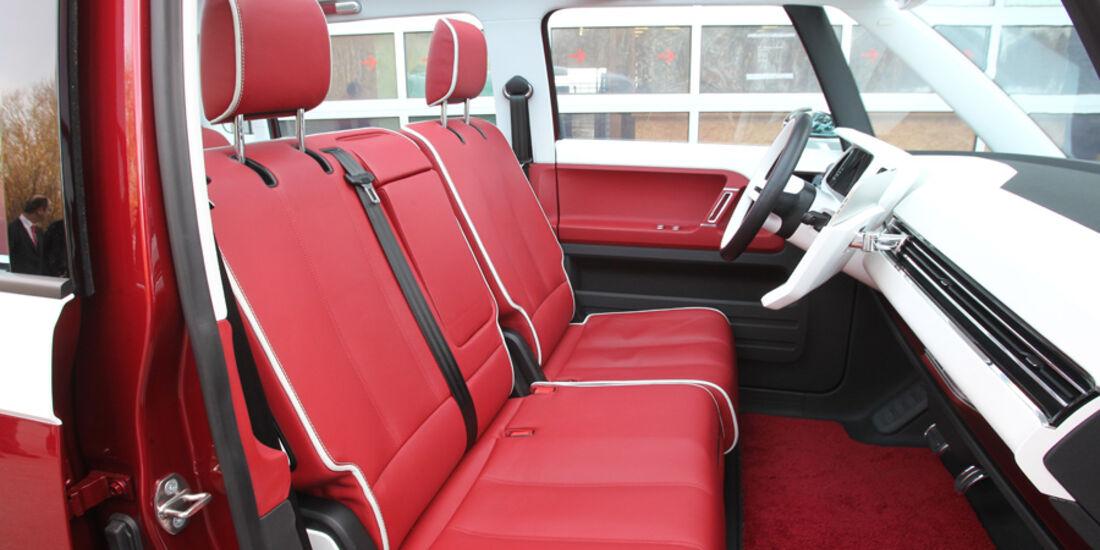 VW Bulli, Studie, Sitze, vorne, Sitzbank