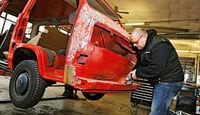 VW-Bus T3, Daniel Ecke, Hebebühne