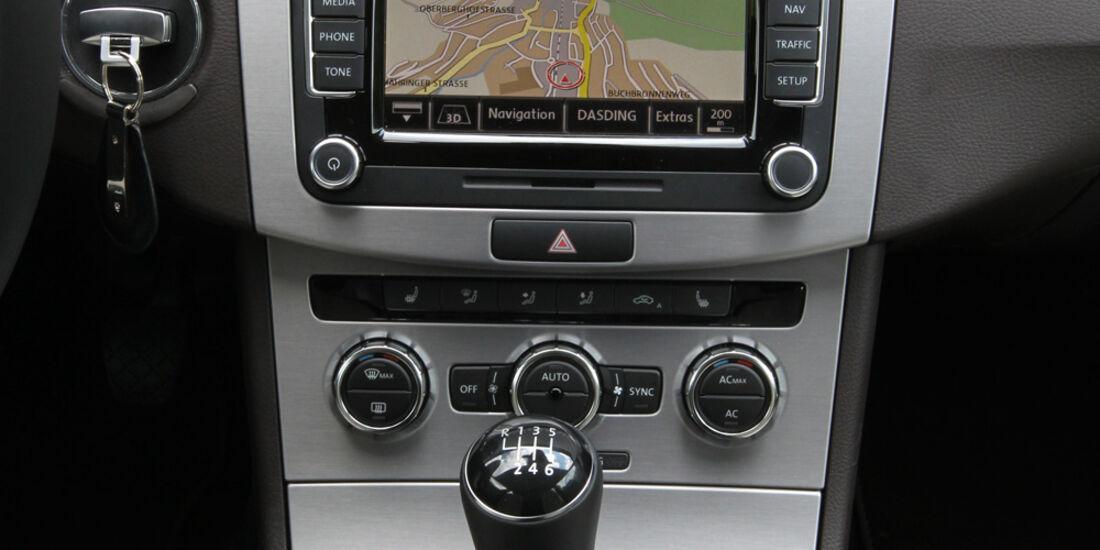 VW CC 1.8 TSI, Mittelkonsole