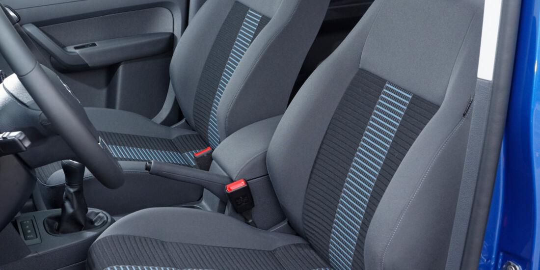VW Caddy, Fahrersitz