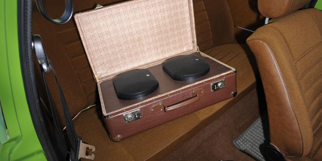 VW Derby, GLS, Boxen in Koffer
