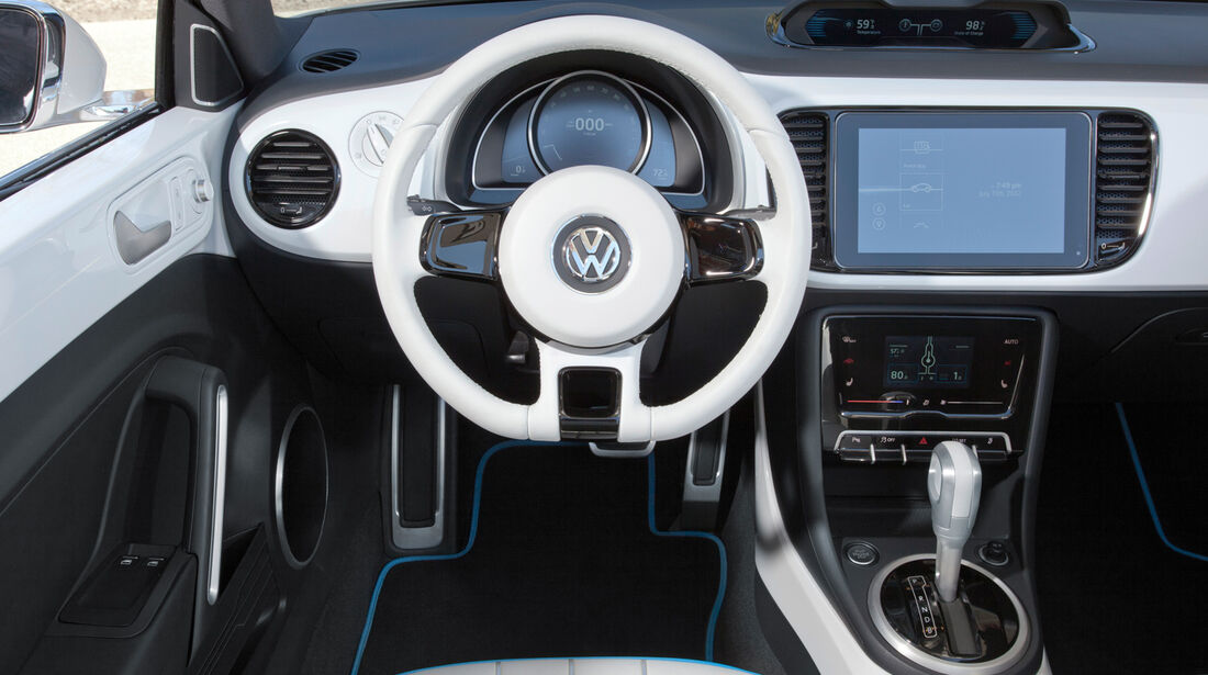 VW E-Bugster, Lenkrad, Cockpit