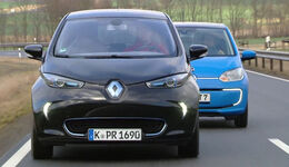 VW E-Up vs. Renault Zoe, Die Tester