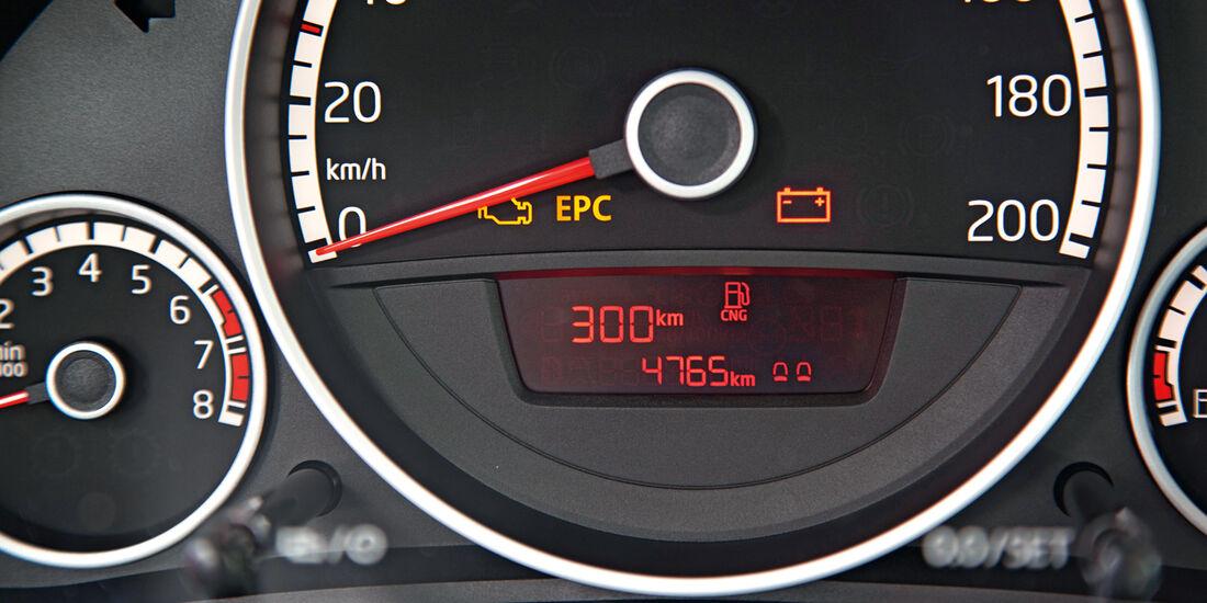 VW Eco-Up, Rundinstrumente