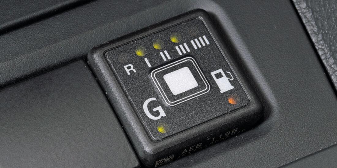 VW Golf 1.4, LPG-Anzeige