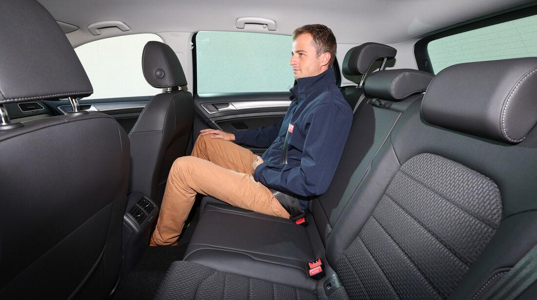 VW Golf 1.6 Blue TDI, Fondsitz, Beinfreiheit