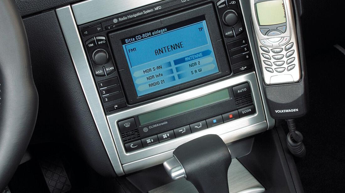 VW Golf 4 R32, Mittelkonsole, Navi, Schalthebel