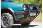 VW Golf Country, Schnauze, Stoßfänger
