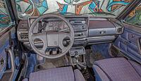 VW Golf I Cabriolet, Cockpit, Lenkrad