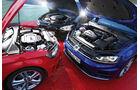 VW Golf R, Audi S3 Sportback, BMW M135i xDRIVE, Motoren