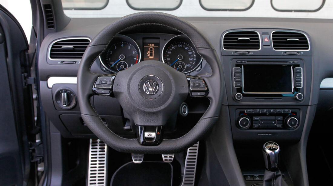 VW Golf R, Detail, Innenraum, Cockpit, Lenkrad