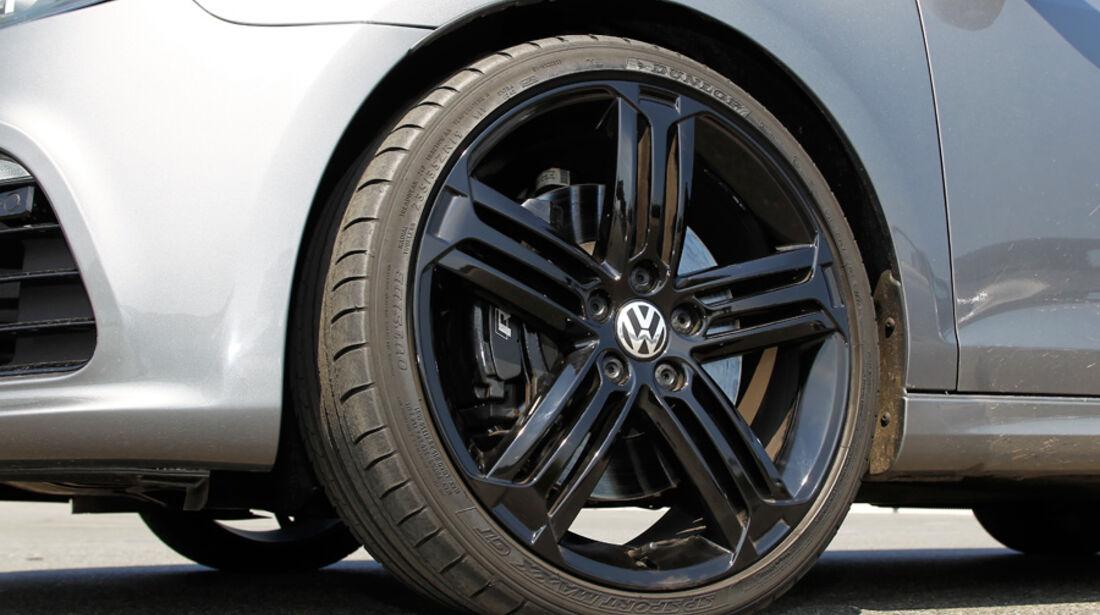 VW Golf R, Detail, Vorderrad, Felge, Rad
