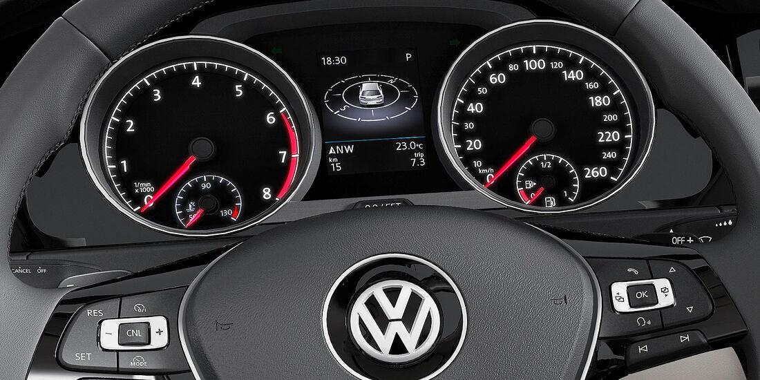 VW Golf VII, Innenraum, Cockpit, Tacho