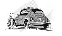VW Käfer, Heckansicht