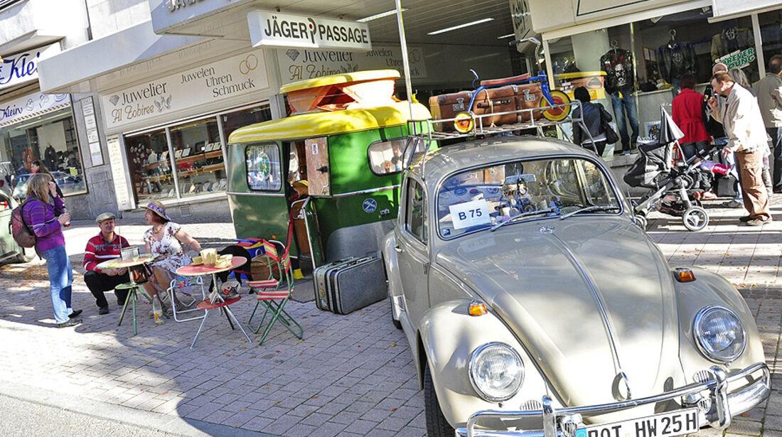 VW Käfer mit Campingausstattung