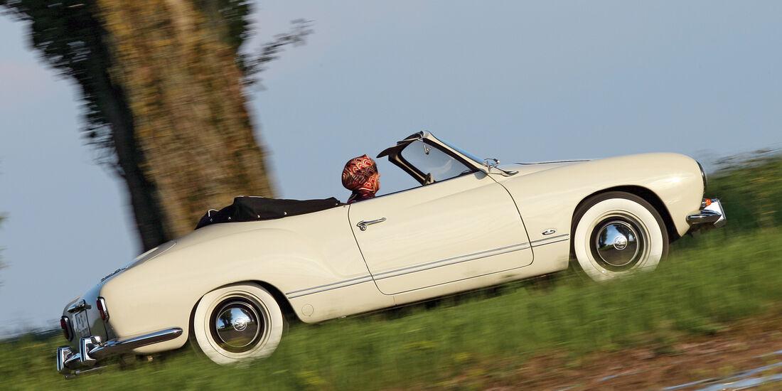 VW Karmann-Ghia Cabrio, Seitenansicht