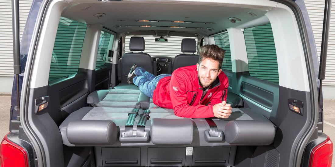 VW Multivan 2.0 BiTDI BMT, Liegefläche