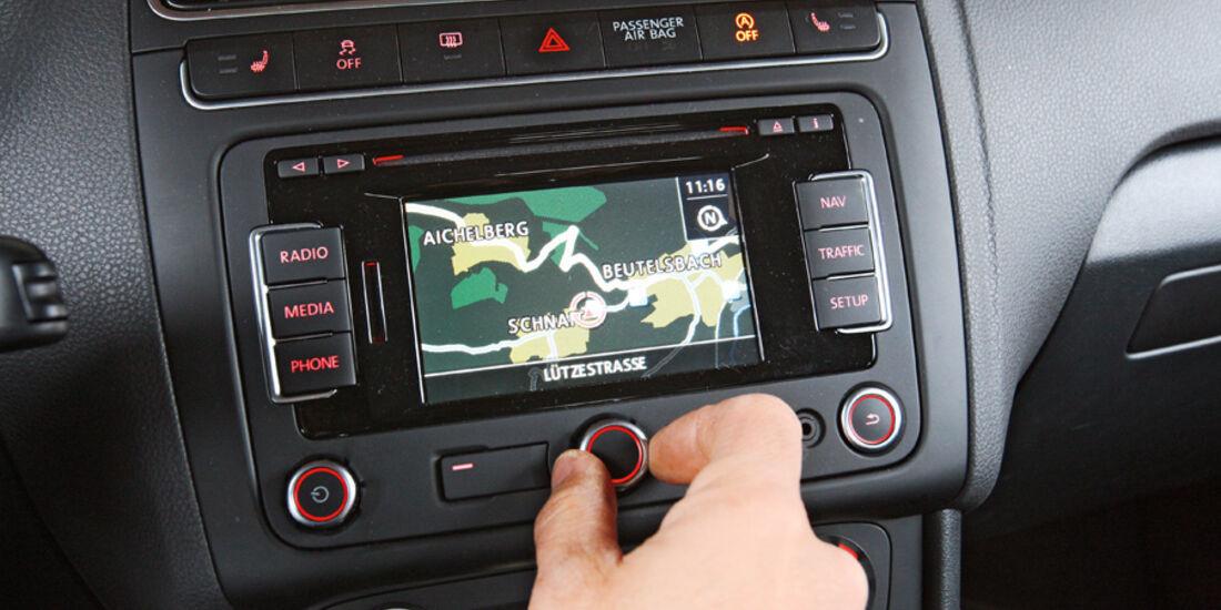 VW Polo 1.2 BMT, Navi-Display