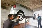 VW Polo GTI, Radaufhängung, Hebebühne