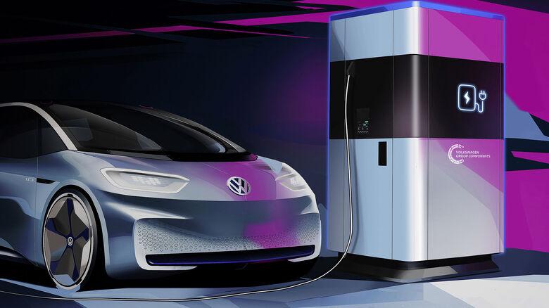VW Powerbank mobile LadesŠule Elektro-Auto