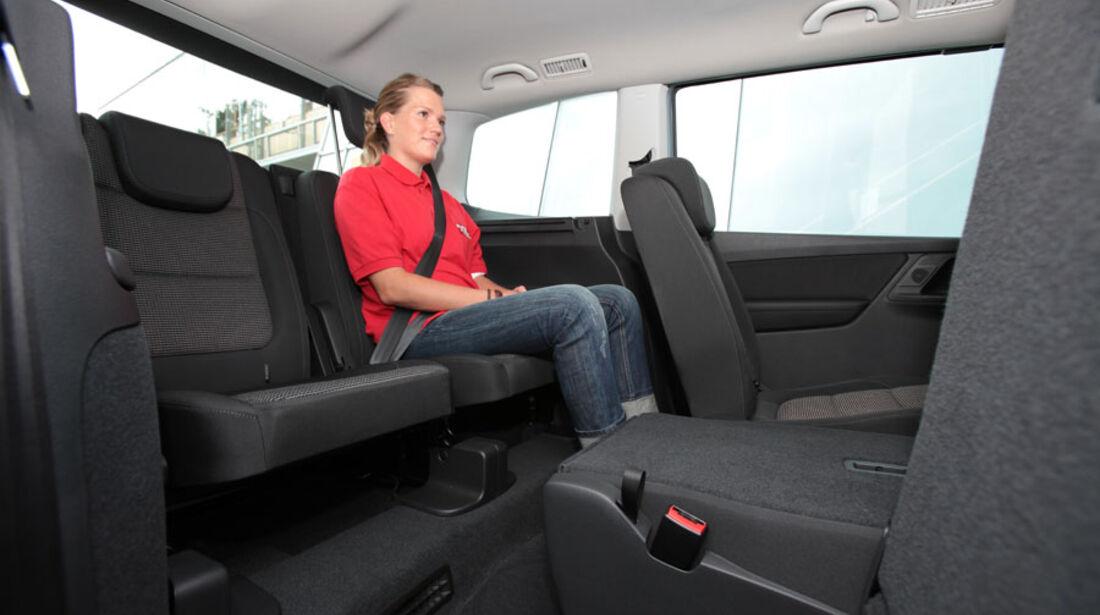 VW Sharan, dritte Sitzreihe