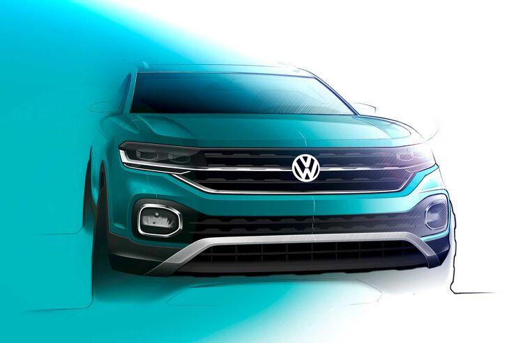 VW T-Cross Designskizze