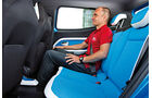 VW Taigun, Rücksitz, Beinfreiheit