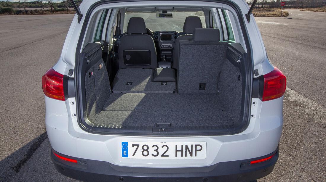 VW Tiguan 2.0 TDI, Kofferraum, Ladefläche