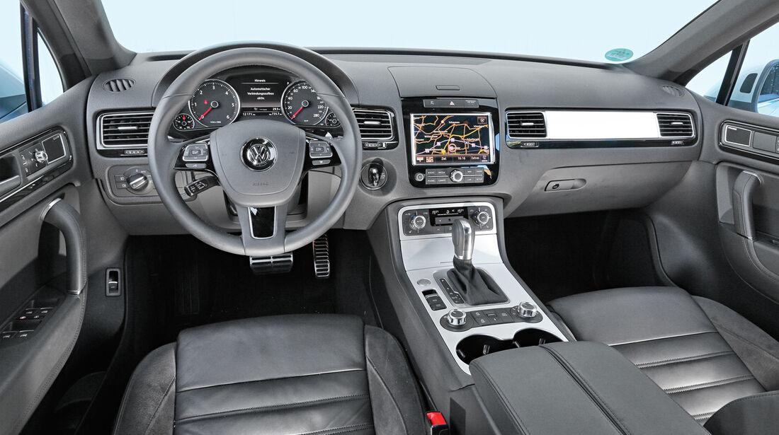 VW Touareg 3.0 TDI, Cockpit, Lenkrad