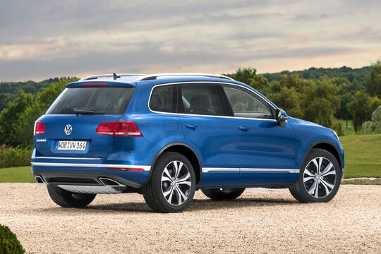 VW Touareg 3.0 V6 TDI SCR BMT, Heckansicht