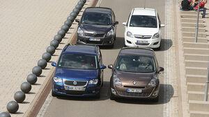 VW Touran, Toyota Verso, Renault Grand Scenic, Opel Zafira